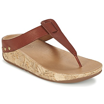 Shoes Women Flip flops FitFlop IBIZA CORK DARK / TAN