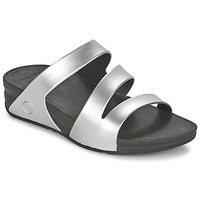 Shoes Women Mules FitFlop SUPERJELLY TWIST SILVER / MIRROR