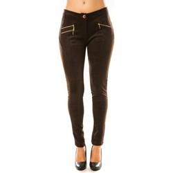 Clothing Women Wide leg / Harem trousers Tcqb Pantalon P604 Marron Brown