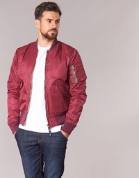 Clothing Men Jackets Schott BOMBER BY SCHOTT Bordeaux