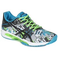 Shoes Men Tennis shoes Asics GEL-SOLUTION SPEED 3 L.E. NYC White / Black / Blue