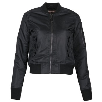 Clothing Women Jackets Schott BOMBER BY SCHOTT Black