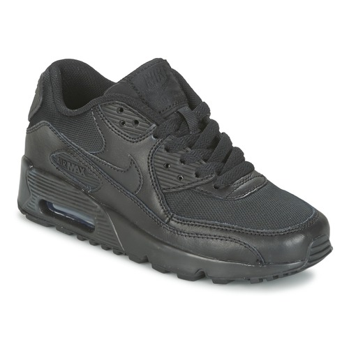 Shoes Boy Low top trainers Nike AIR MAX 90 MESH Black