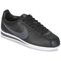 Shoes Men Low top trainers Nike CLASSIC CORTEZ LEATHER Black / Grey