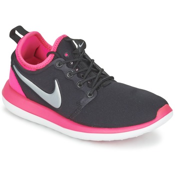 Shoes Girl Low top trainers Nike ROSHE TWO JUNIOR Black / Pink