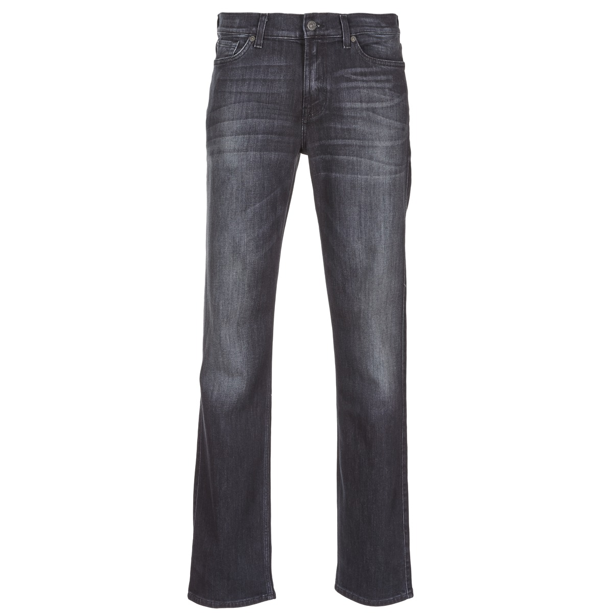 7 for all mankind  slimmy luxe performance  men's jeans in black