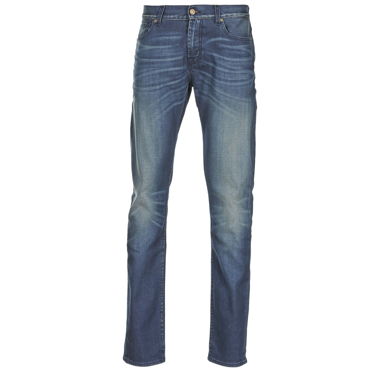7 for all mankind  ronnie electric mind  men's skinny jeans in blue