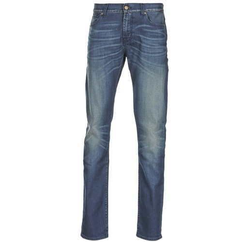 Clothing Men slim jeans 7 for all Mankind RONNIE ELECTRIC MIND Blue / Medium