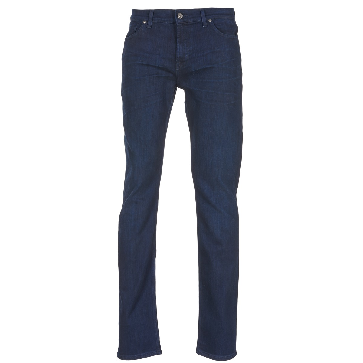 7 for all mankind  ronnie winter intense  men's skinny jeans in blue