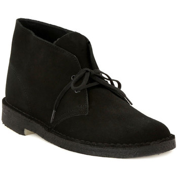 Shoes Men Mid boots Clarks DESERT BOOT BLACK Nero
