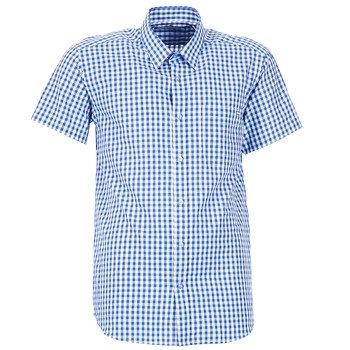 Clothing Men short-sleeved shirts Casual Attitude ECARO Blue / White
