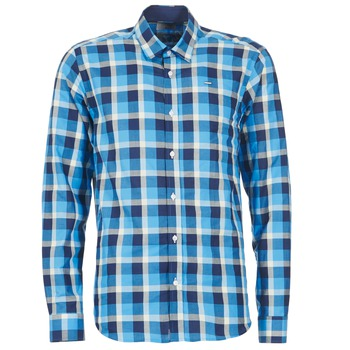 Clothing Men long-sleeved shirts Casual Attitude ECARI Blue