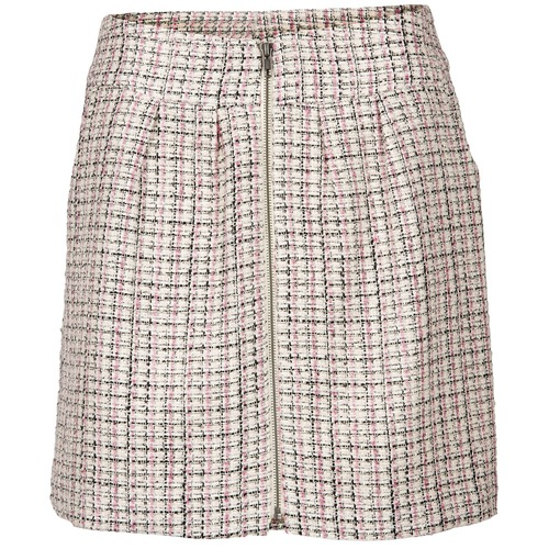 Clothing Women Skirts Naf Naf ENLI Ecru / Pink