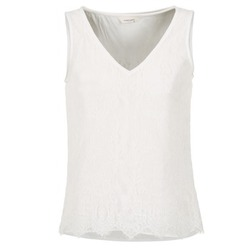 Clothing Women Tops / Sleeveless T-shirts Naf Naf LADALIA Ecru