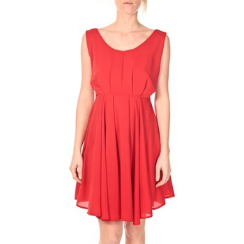 Clothing Women Short Dresses Aggabarti Aggarbati Robe Bretelles 121084 Cerise Red