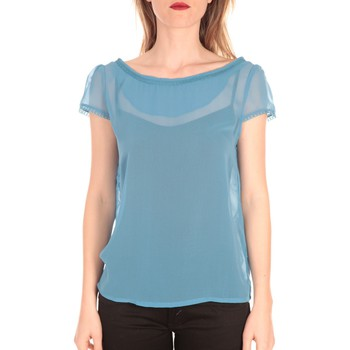 Clothing Women short-sleeved t-shirts Aggabarti t-shirt voile121072 bleu Blue