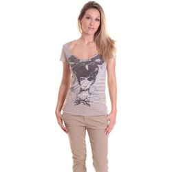 Clothing Women short-sleeved t-shirts Rich & Royal T-shirt 11q442 Beige/Taupe Beige