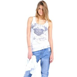 Clothing Women Tops / Sleeveless T-shirts Rich & Royal Débardeur 11q435 Blanc White