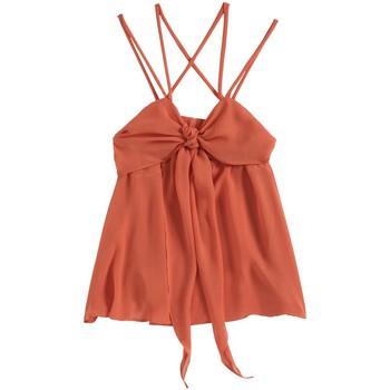 Clothing Women Tops / Sleeveless T-shirts Aggabarti Top 121068 Orange Orange