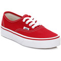 Vans Kids Red/True White Authentic Canvas Trainers