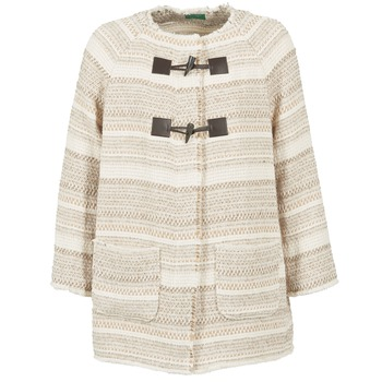 Clothing Women Coats Benetton LUMO Beige