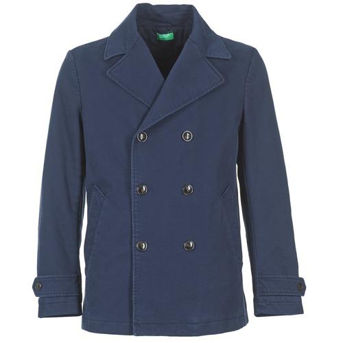 Clothing Men Coats Benetton FIMARA Marine