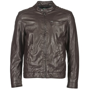 Clothing Men Leather jackets / Imitation leather Benetton HOULO Brown