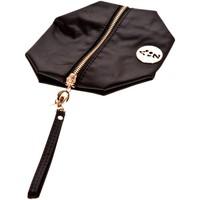 Bags Women Pouches / Clutches Very Bag Street Pochette besace bouton doré Noire Black