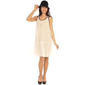 Clothing Women Short Dresses Aggabarti Robe Tulle 121008 Ecru Beige