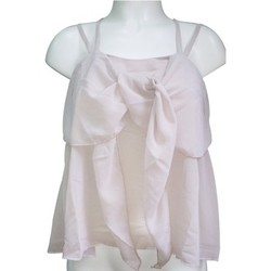 Clothing Women Tops / Sleeveless T-shirts Aggabarti Top 121068 Écru Beige