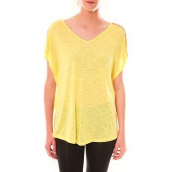 Clothing Women short-sleeved t-shirts Dress Code Top M-9388  Jaune Yellow