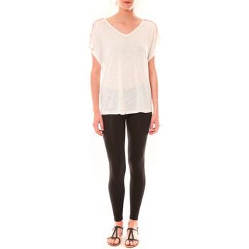 Clothing Women short-sleeved t-shirts Dress Code Top M-9388  Blanc White