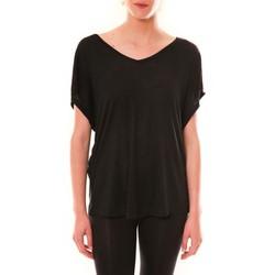 Clothing Women short-sleeved t-shirts Dress Code Top M-9388  Noir Black