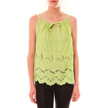 Clothing Women Tops / Sleeveless T-shirts Dress Code Debardeur HS-1019  Amande Green