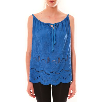 Clothing Women Tops / Sleeveless T-shirts Dress Code Debardeur HS-1019  Bleu Blue