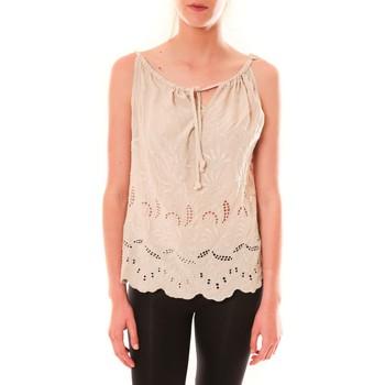 Clothing Women Tops / Sleeveless T-shirts Dress Code Debardeur HS-1019  Beige Beige