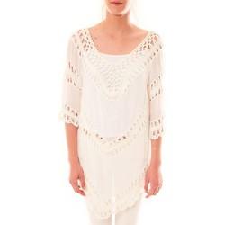 Clothing Women Tunics Dress Code Tunique Bubblee  Blanche White