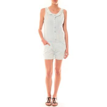Clothing Women Jumpsuits / Dungarees Dress Code Combinaison F258  Denim Clair Blue