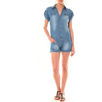 Clothing Women Jumpsuits / Dungarees Dress Code Combinaison F259  Denim Blue