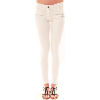 Clothing Women 5-pocket trousers La Vitrine De La Mode Pantalon S2012 By La Vitrine Blanc White