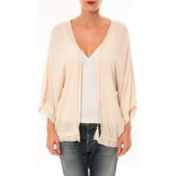 Clothing Women Jackets / Cardigans De Fil En Aiguille Gilet MC3014 Beige Pink
