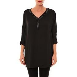 Clothing Women Tunics La Vitrine De La Mode By La Vitrine Tunique LW15002 noir Black