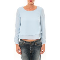 Clothing Women Long sleeved tee-shirts By La Vitrine Top Z014 bleu Blue
