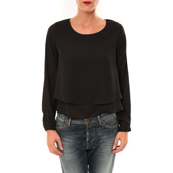 Clothing Women Long sleeved tee-shirts By La Vitrine Top Z014 noir Black