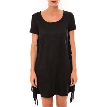 Clothing Women Short Dresses De Fil En Aiguille Robe MA8495 noir Black