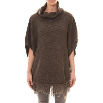 Clothing Women Jackets / Cardigans La Vitrine De La Mode Poncho Marron Brown