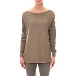 Clothing Women jumpers De Fil En Aiguille Pull Zinka Taupe Brown