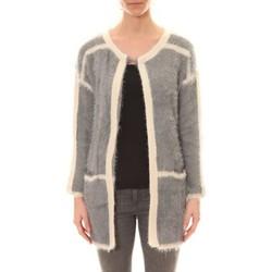 Clothing Women Jackets / Cardigans De Fil En Aiguille Gilet 1815 Bicolore Gris /Blanc Grey