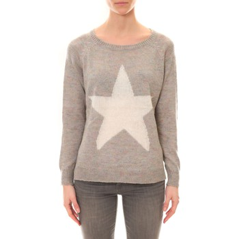 Clothing Women Jumpers De Fil En Aiguille Pull Ym19 Gris Grey