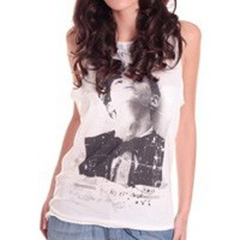 Clothing Women Tops / Sleeveless T-shirts Rich & Royal DEBARDEUR 11Q418 BLANC White